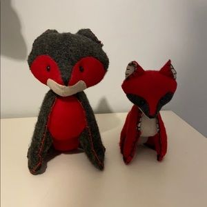 2 for $20 Stuffed decorative felt foxes